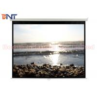Wholesale Smoothly High Quality PVC Fabric Auto-locking Manual Projector Screen 100 Inch 4:3 Format from china suppliers