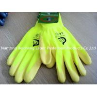 Quality Yellow Breathable Nitrile Work Gloves Foam For Petrochemical Industry for sale