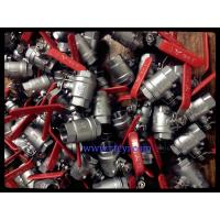 Wholesale 2PC Body Screwed End 1000PSI Stainless Steel Ball Valves A351 CF8 / CF8M / CF8C from china suppliers