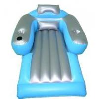 Wholesale PVC floating water air sunbath inflatable mattresses with cup holder from china suppliers
