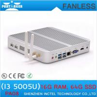 Buy cheap Embedded mini BOX PC Fanless Mini PC with 5th Generation CPU Intel Core i3 5005U from wholesalers