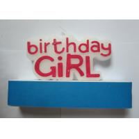Wholesale Delightful Custom Girl Happy Birthday Letter Candles Red Non - Toxic For Party from china suppliers