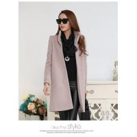 Wholesale fashion high collar ladies elegant pure cashmere coat from china suppliers