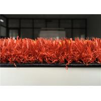 Wholesale 25mm Coloured Artificial Grass , Decorative Red Artificial Turf For Park from china suppliers