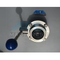 Wholesale Stainless Steel Sanitary Butterfly Valve with Weld/Nut End (ACE-DF-2D) from china suppliers