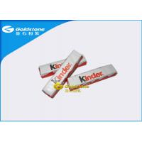 Wholesale Plastic Foil Wrapping Paper For Chocolate Bar , Homemade Chocolate Packing Material from china suppliers
