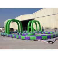 Wholesale Purple / Green Inflatable Race Track 13m PVC Tarpaulin Inflatable Track Games from china suppliers
