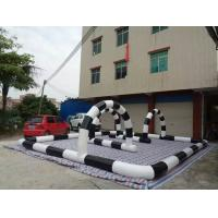 Wholesale PVC Tarpaulin Inflatable Go Kart Track Funny For Zorb Ball Race from china suppliers