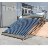 Quality 20tubes Compact Pressurized Stainless Steel Heat Pipe Solar Water Heaters for Slope Roof for sale