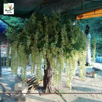 Wholesale UVG WIS010 7ft green fake wisteria blossom artificial trees for home garden decoration from china suppliers
