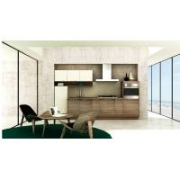 Quality Modern Simple Wood Grain PVC Kitchen Cabinet for sale