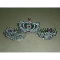 Wholesale Rhinestone Tiara Crown Kids Party Costume Headdress Hair Clip Headband Birthday Decors from china suppliers