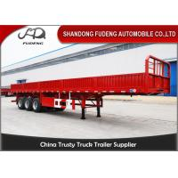 Wholesale 50 Tons Capacity 40ft Flatbed Semi Trailer With Detachable Side Wall from china suppliers