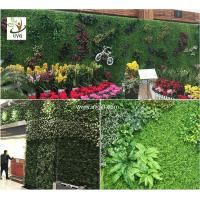 Wholesale UVG artificial green living wall with plastic grass for vertical garden decoration GRS09 from china suppliers
