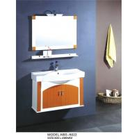 Wholesale Single Ceramic basin PVC bathroom cabinet mirrored optional Waste drain from china suppliers
