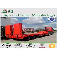 Wholesale 50 Tones Tri - Axle Concave Type Low Bed Semi Trailer with ramps from china suppliers
