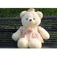 Wholesale White Bear Animal Plush Toys Lace Red Flower Dress Bows Kids Stuffed Toys from china suppliers
