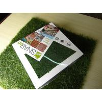 Wholesale Waterproof 12800Dtex Green / Yellow Fake Artificial Grass Flooring Lawn from china suppliers