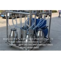 Wholesale Electric Mobile Double Bucket Milking Machine With 2.2 Kw Motor from china suppliers