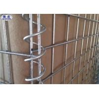 China Collapsible Metal Hesco Security Barrier 300gsm Sand Color OEM Service on sale