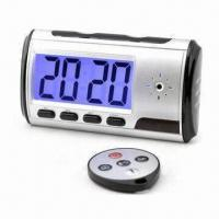 Wholesale 640 x 480P 30fps Digital Alarm Clock with Remote Control/Motion Detection/12hrs Long Record Time from china suppliers