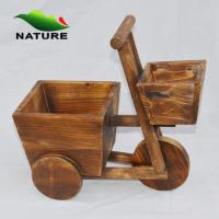 Wholesale Flower Planter / Wood Car Cute Flower Planter for Indoor and Outdoor from china suppliers