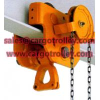 China Geared traveling trolley application on sale