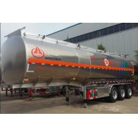Wholesale Aluminum Alloy Hazardous Chemical Tank Semi Trailer 42 - 50 Cubic Lightweight from china suppliers
