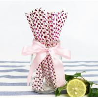 Wholesale Disposable Colored Paper Straws , Solid Color Paper Straws 100% Eco - Friendly from china suppliers