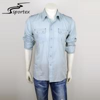 China Fashion Mens Fitted Shirts Casual , Casual Shirts For Men Anti Pilling on sale