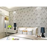 Wholesale Greywhite Removable Modern 3D Wallpaper for Living Room 1500g Mould Proof from china suppliers