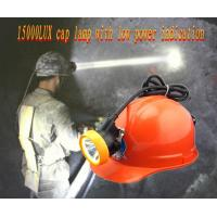 Wholesale 15000lux led corded rechargeable mining cap lamp with low power indication from china suppliers