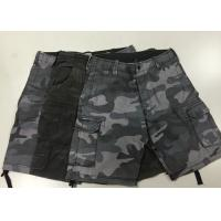 Wholesale Camouflage Short Work Pants , Mens Black Combat Trousers For Police  / Army from china suppliers