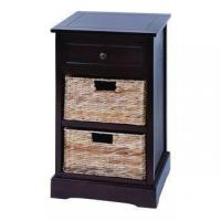 Buy cheap Black Wood Drawers Cabinet Straw Basket China French Cabinet from wholesalers