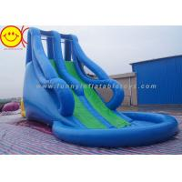 Wholesale Blue Style Large Inflatable Water Slide With Pool For Water Park 10m*5m*8m from china suppliers