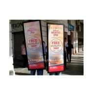 Wholesale High Pixel Mobile LED Advertising Light Box , Rectangle LED Walking Billboards from china suppliers