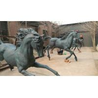 Buy cheap New Bronze horse sculptures with patina,outdoor statues for sculptor and artist, China sculpture supplier from wholesalers