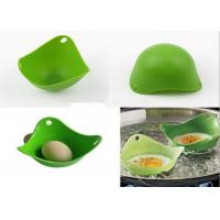 Wholesale Creative Green Kitchen Silicone Egg Poacher / Fried Egg Rings Silicone from china suppliers