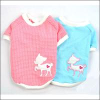 Wholesale Pink / Blue Cute Personalized Dog Tee Shirt with S, M, L, XL from china suppliers