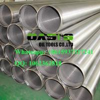 Wholesale Galvanized  welding ring  V-shape Slot Johnson Water Well Screens China Manufacturer from china suppliers
