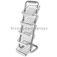 Wholesale 5 Layer Metal Tray Retail Flooring Display Stand Wire Snack Candy Bar Display Stand from china suppliers