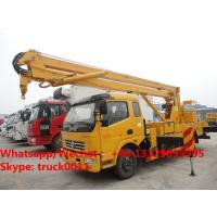 Wholesale Factory sale cheapest price Dongfeng LHD 16m aerial platform truck, Wholesale best price 12-16m overhead working truck from china suppliers