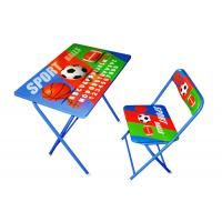 Quality PE Coated Foldable Reading Study Table Furniture With Chair Sets for sale