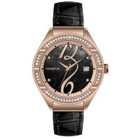Wholesale Auto Date Tourbillon Women Jewelry Watch , Leather Quartz Watch from china suppliers