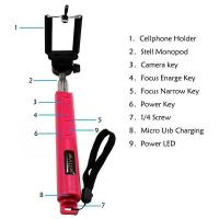 Wholesale Mini Pocket Bluetooth Selfie Stick Monopod Phone Bracket for Mobile Phone from china suppliers
