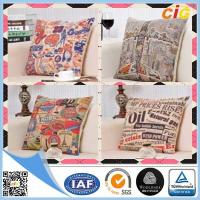 Wholesale Linen Fabric Embroidered Decorative Replacement Seat Cushion Covers for Chairs / Sofa from china suppliers