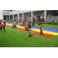 Quality Green Artificial Turf Grass For Kindergarten / Artificial Lawn Grass Customized for sale