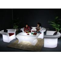 Wholesale Glowing Wedding LED big sofa set  Chair Wireless Remote Control With Table from china suppliers
