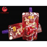 Wholesale Stand Up Spout Pouch Packaging with Customized Cap / Beverage Nozzle Pouch from china suppliers