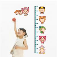 Wholesale Non-Toxic Kids Height  Stickers  Home Decoration Childrens Wall Stickers DLX605 from china suppliers